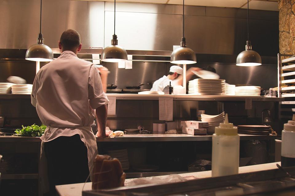 Restaurant, Kitchen, Chefs, Cooks, Food