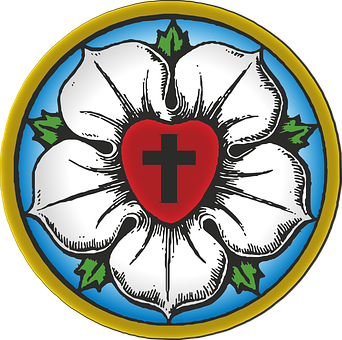 Luther, Symbool, Protestant, Lutheran
