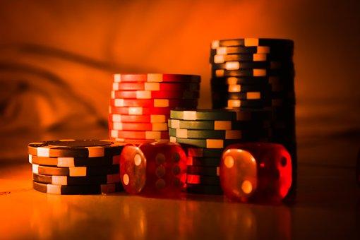 Casino, Chips, Dice, Brown Casino