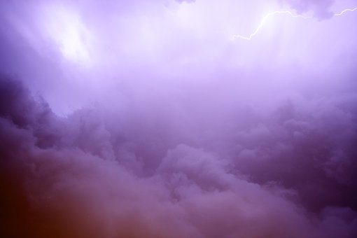 Lightning, Purple, Sky