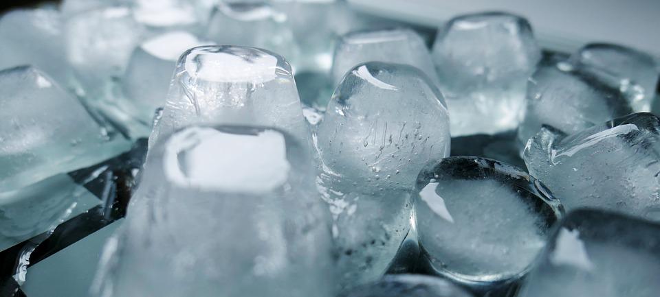 Ice Cubes Frozen Cold Transparent Melt