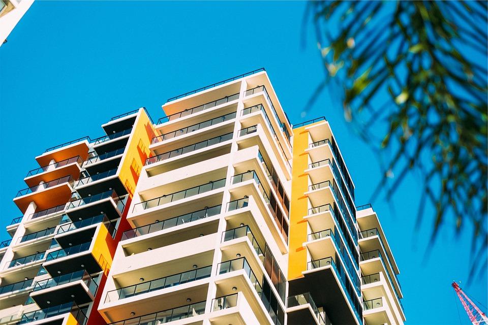 อาคาร, คอนโด, พาร์ตเมนท์, สถาปัตยกรรม, ระเบียง, แก้ว