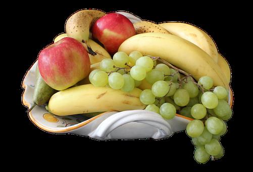 Fruit, Bowl, Banana, Apple, Grape, Pear