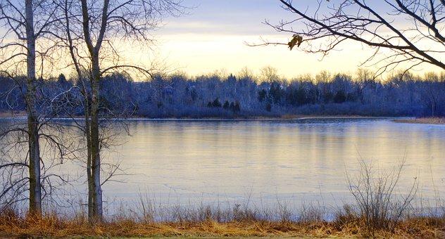 Winter, Sonnenuntergang, Landschaft