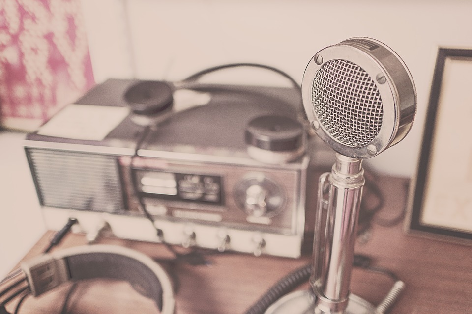 Micrófono, Auriculares, De Radio, Ondas De Radio