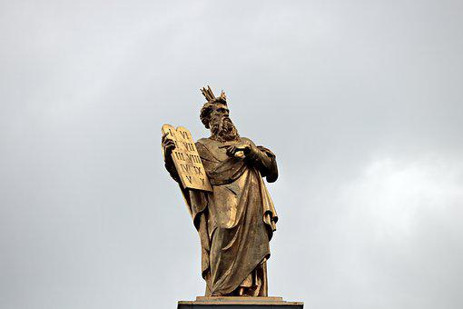 Moses, 10 Commandments, Statue