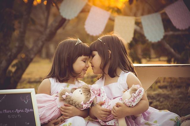 双子, 女の子, ツイン, ヴ, 愛, Dool, 人形, Goldenhour, 日没, 光, 幸せです