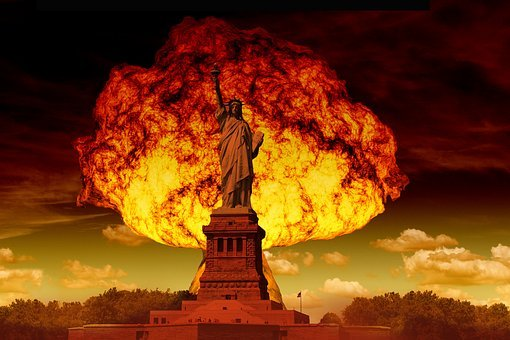 Statue Of Liberty, Mushroom Cloud