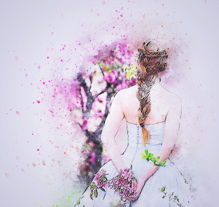 Girl Wedding Art Free Image On Pixabay
