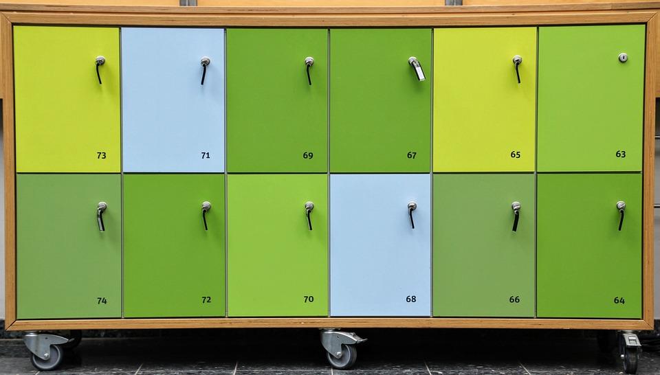 ロッカー, 閉室, 廃棄物のトレー読出し, 安全, セーフティ ボックス, セキュリティ