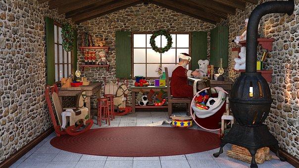 圣诞节, 圣诞老人, 圣诞讲习班, 车间, 来临, 艺术节, 奎, 尼古拉