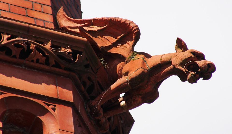 Grotesque Gargoyle Sculpture Gothic Demon Statue