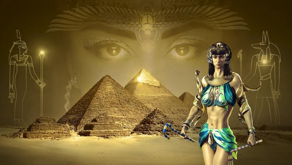 Egypt Warrior Illustration Anubis Pyramid Fantasy Art: Free Photo: Fantasy, Egypt, Pyramids, Desert