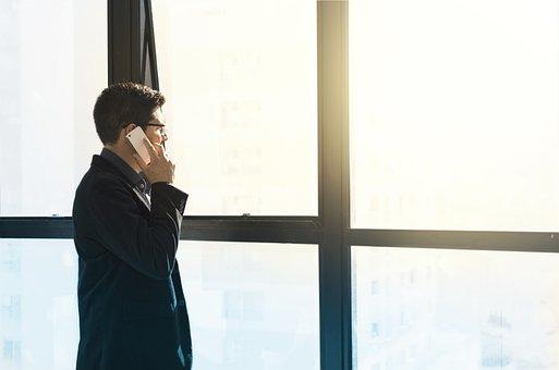 Man, Cellular, Suit, Entrepreneur