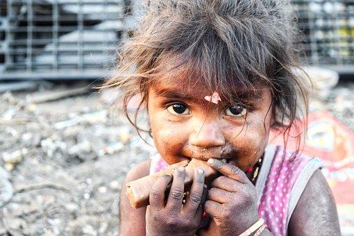 Slums, Indien, Mädchen, Schlecht, Schön
