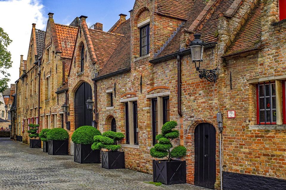 Gebouw, Huis, Gevel, Baksteen, Architectuur, Brugge