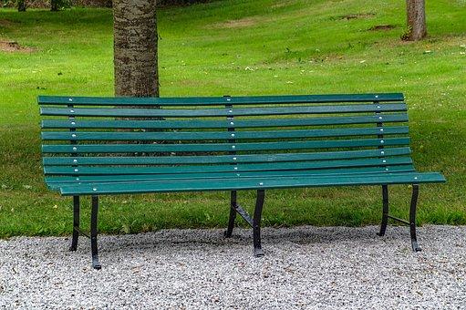 bench seat banc garden grass green