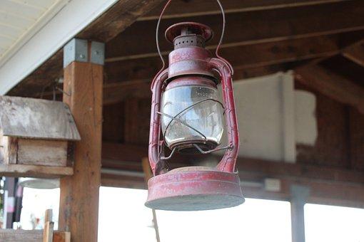 Garden House, Lamp, Pink Lantern, Garden