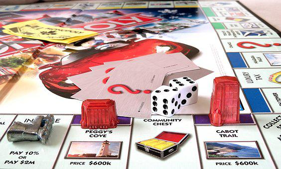 Monopoly, Canadian, Game, Playing, Dice