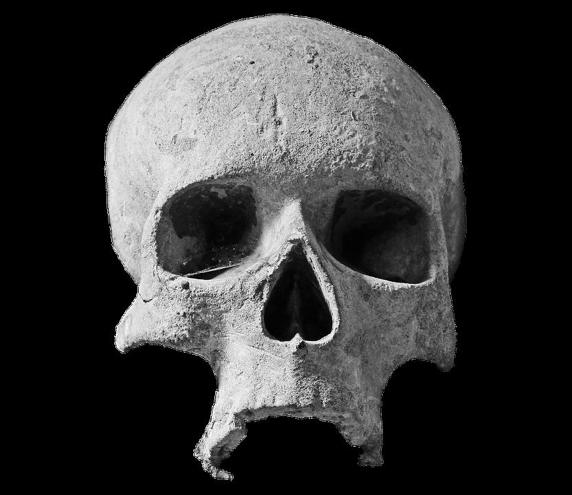 Skull stone skull head spiritual stone ornament