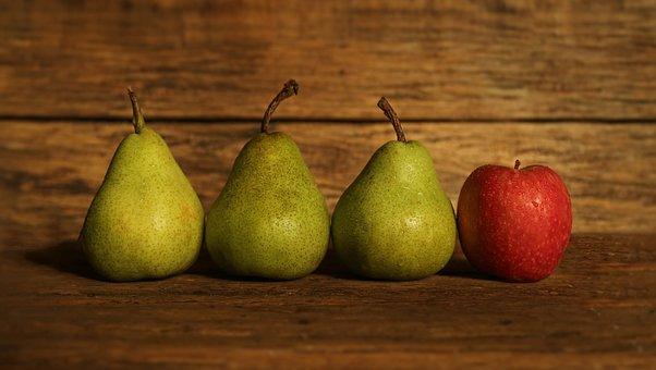 フルーツ, 梨, リンゴ, 仲間外れ, 食品