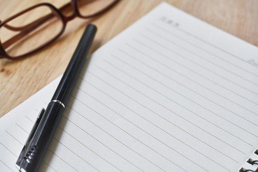 Notebook, Pluma, La Obra, Curso, Trabajo