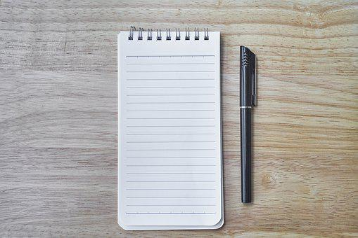 Notatnik, DÅ'ugopis, Praca, Lekcja