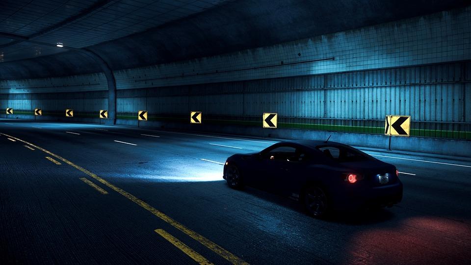 Weg, Asphalt, Nacht, Tunnel, Auto, Need For Speed