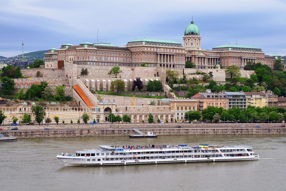 Budapest, Castle, Buda Castle, Danube, Ship, Hungary