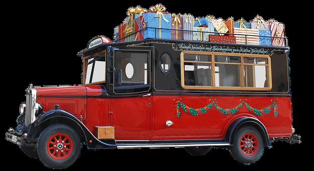 Isolerat, Oldtimer, Buss, Jul Ladda Ner