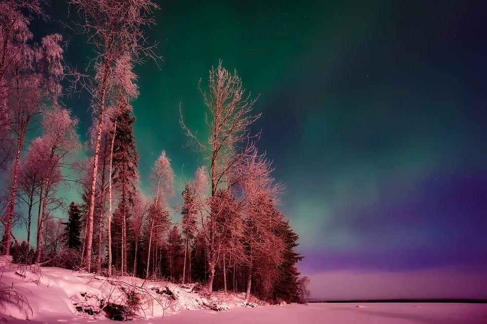 Finland Northern Lights Aurora Borealis Phenomenon