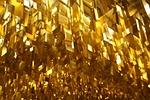 ceiling, lighting, gold