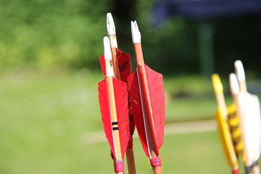 Sport, Bogenschießen, Ziel, Bogen, Pfeil