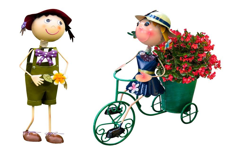 kostenloses foto: garten, blumen, figuren, dekoration, Gartenarbeit ideen