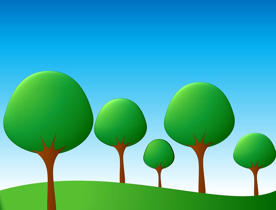 cartoon background trees 183 free image on pixabay
