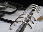 planner, glasses, time management