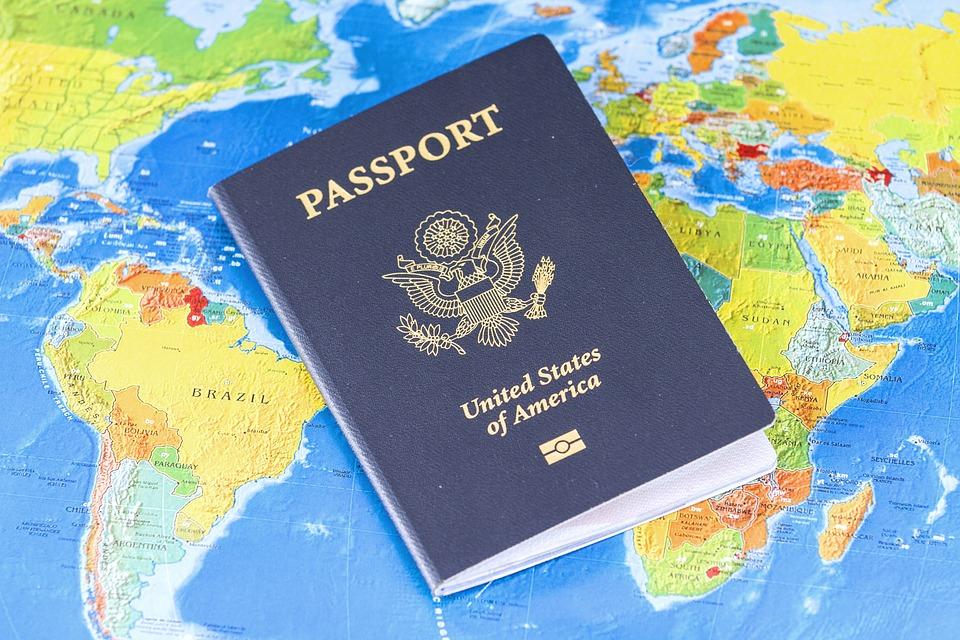 pport flag travel visa identification usa