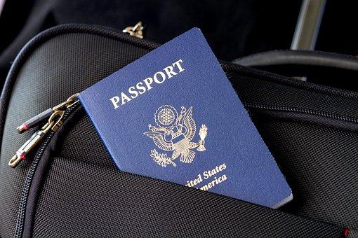 パスポート, フラグ, 旅行, ビザ, 識別, アメリカ合衆国, アメリカ