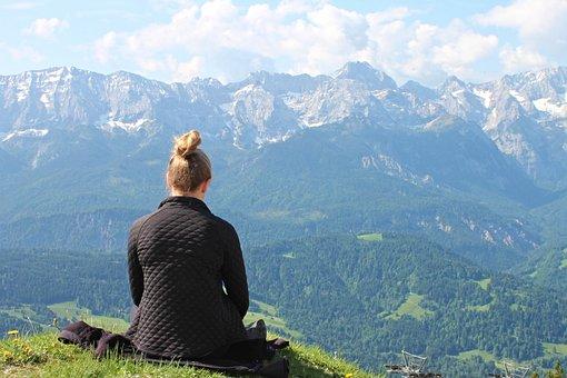 Meditation, Absorbed, Silence, Girl