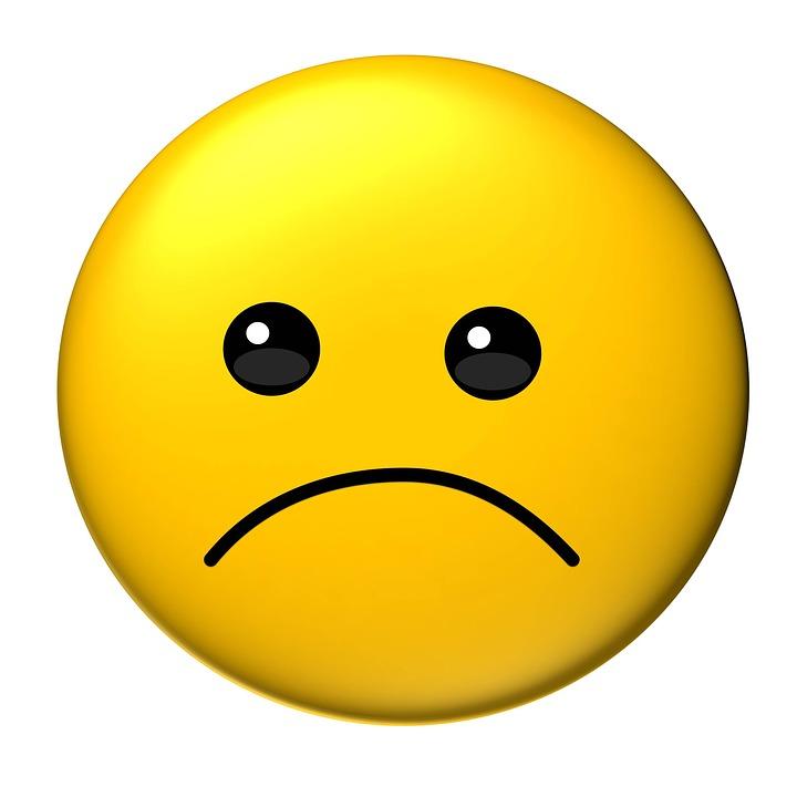 图释, 伤心, 黄色, 可爱, 脸, 情感, 表情符号, 面部护理