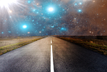 road, asphalt, human