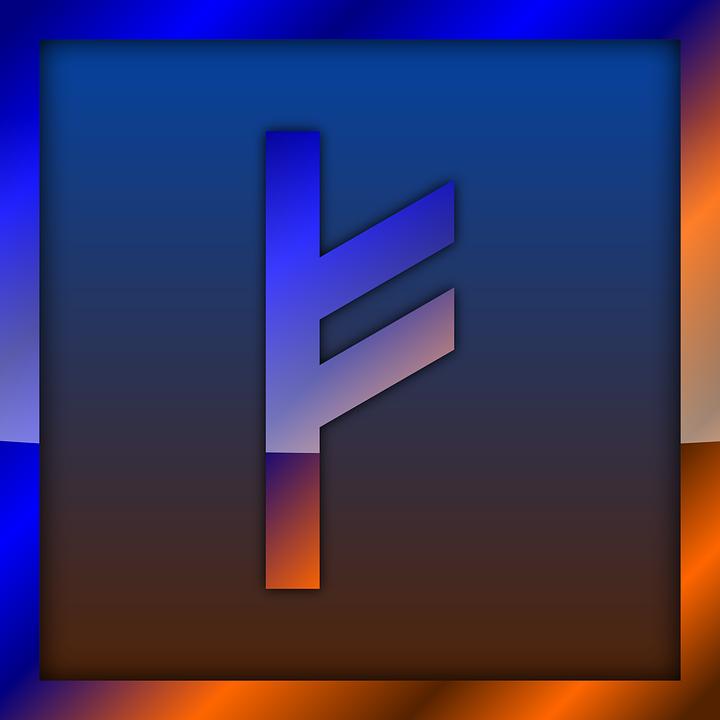 Fehu, Rune, Runes, Futhark, Divination, Norse, Icon