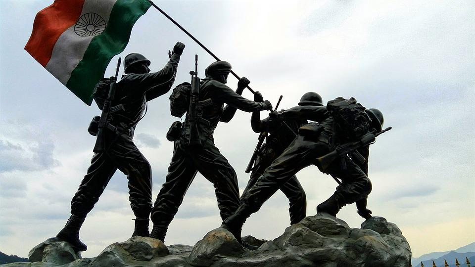 Free photo Indian Flag Indian Army Statue Free Image on