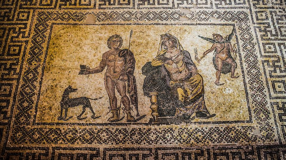 Mosaic, Floor Mosaic, Remains, Ancient, Archaeology