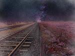 cosmos, road, railway