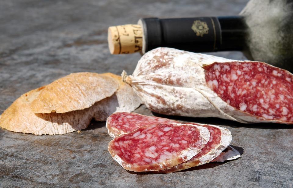 Salame, Salsiccia, Taglio, Sostanziale, Grasso