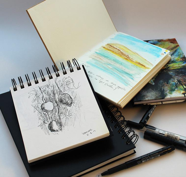 Image result for sketch pad and pencil pixabay