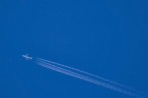 Aeronaves, Estela, Aire, Azul, Cielo