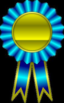 Award, Blauw, Lint, Winnaar