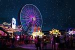 night, ferris wheel